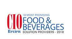 10 Most Promising Food & Beverage Solution Providers 2018 Award from CIOReview.com