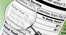 ingredient specification, nutritional facts and label compliance