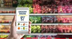 online grocery shopping with mobile phone
